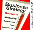 Business Strategy Success Showing Vision And High Motivation - stock photo