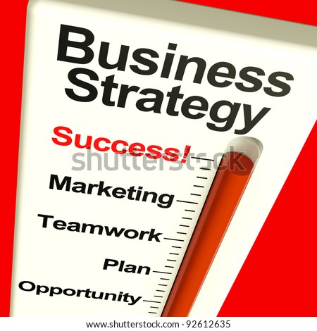 Business Strategy Success Showing Vision And High Motivation