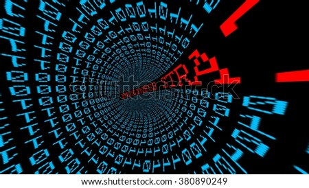 Business strategy tunnel - stock photo
