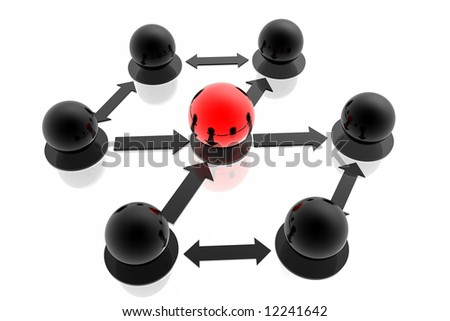 Business structure - stock photo