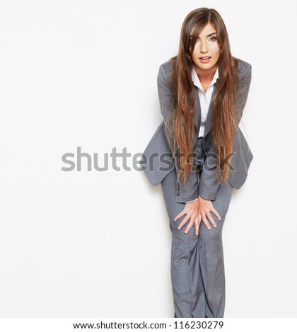 Business style fashion portrait of young woman - stock photo