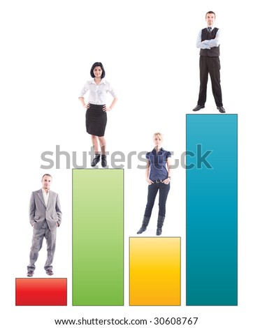 business success and growth concept - stock photo