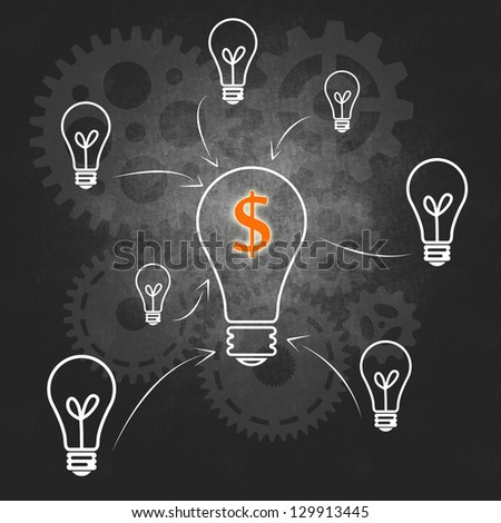 Business success and the management system - stock photo