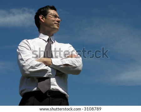 Business success! Concept of Leadership . - stock photo