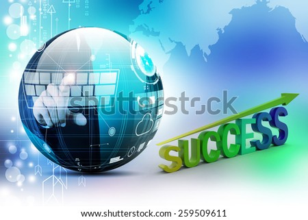 Business success graph - stock photo