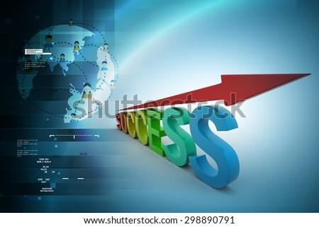 Business success graph - stock photo