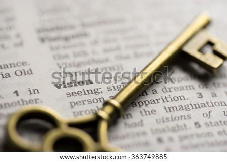 Business success key concept vision - stock photo