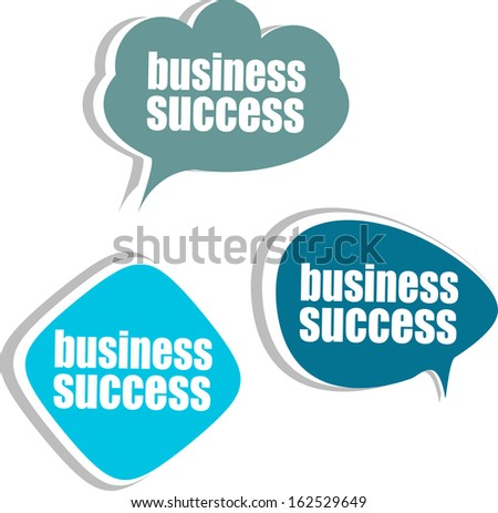 business success. Set of stickers, labels, tags. Business banners, Template for infographics, raster