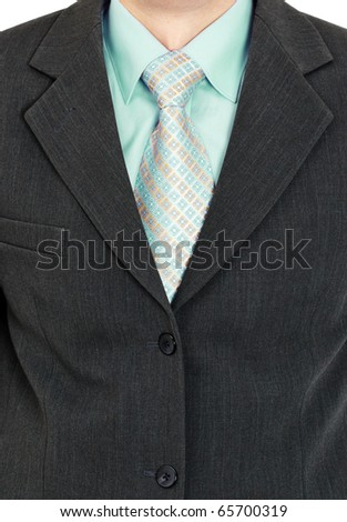Business suit men close-ups - a shirt and tie