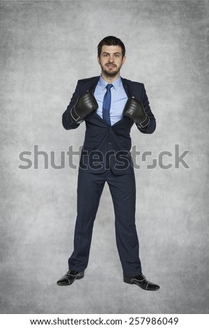 business super hero - stock photo