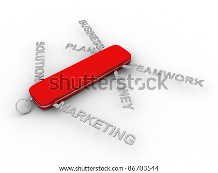 Business Swiss Knife - this is 3d illustration - stock photo