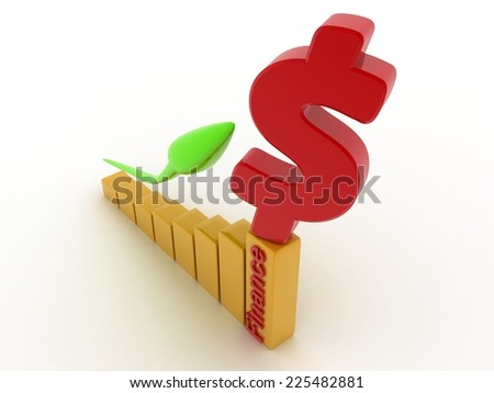 business Symbol and green Arrow. 3d rendered. Isolate on white background.  - stock photo