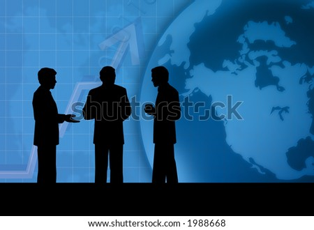 Business talk - stock photo