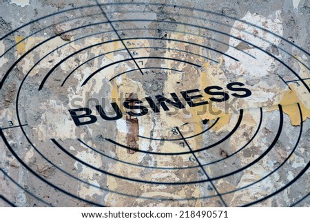 Business target - stock photo
