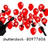 Business Target, Aspiration and Success, Arrows and Balloons - stock photo
