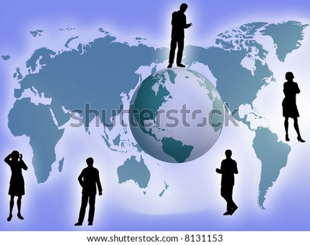 Business team all around the world as business concept
