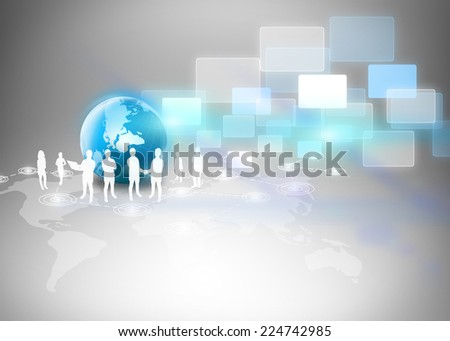 Business team and business world  - stock photo