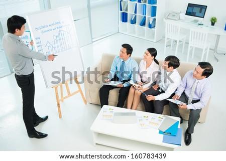 Business team at the seminar viewed below - stock photo