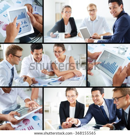 Business team at work - stock photo