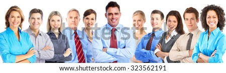Business team. Businesspeople group isolated white background. - stock photo