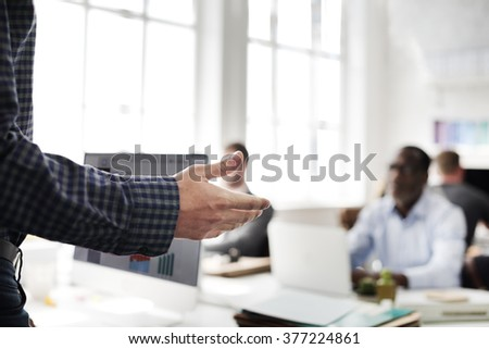 Business Team Busy Working Workplace Concept - stock photo