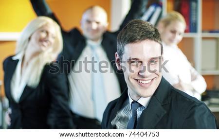 Business Team Celebrating Success. - stock photo