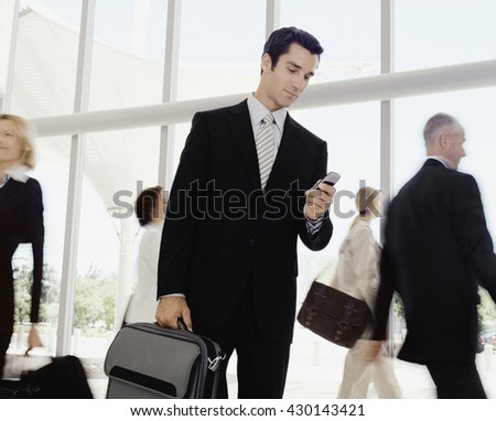 Business team concept - Business people in modern office lobby