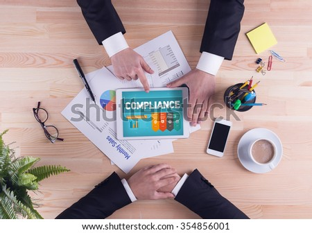 Business team concept - COMPLIANCE - stock photo