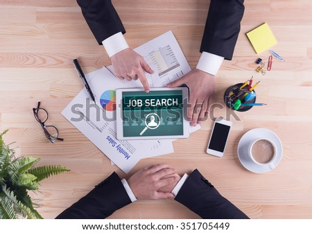 Business team concept - JOB SEARCH - stock photo