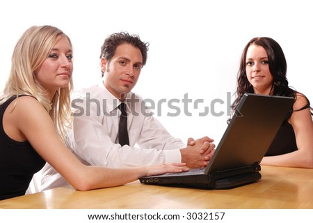 business team concept with its members having a meeting