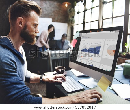 Business Team Corporate Marketing Working Concept - stock photo
