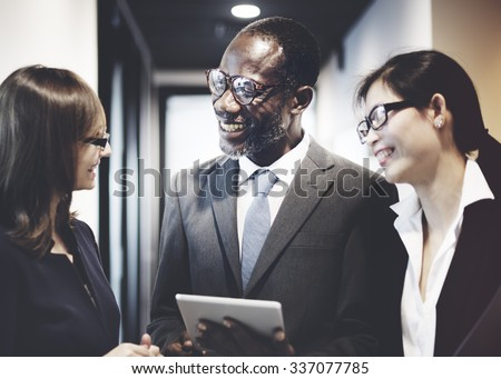 Business Team Corporate Organization Working Concept - stock photo
