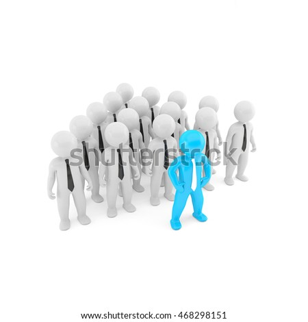 Business Team 3D illustration render people on white background