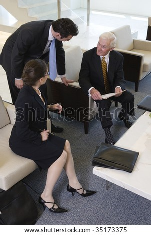 Business team discussion - stock photo