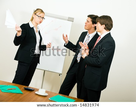 Business Team dissenting - stock photo