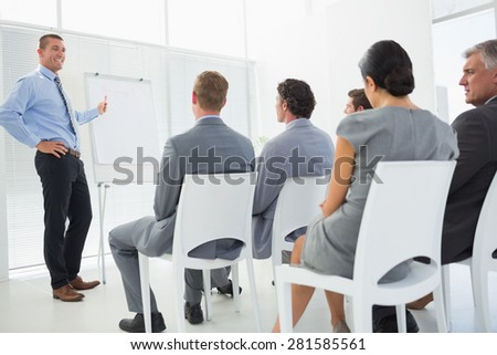 Business team during conference in meeting room