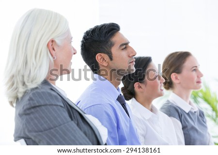 Business team during conference in the office - stock photo