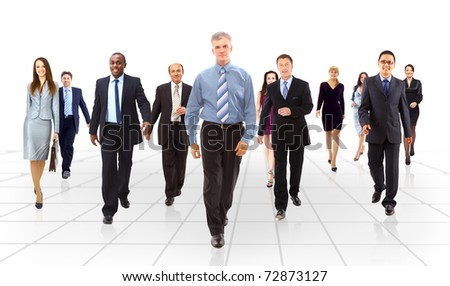 business team going - stock photo