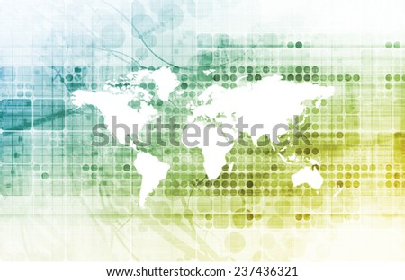 Business Team in a Global Company Concept - stock photo