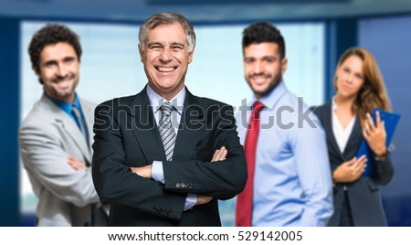 Business team in a modern office
