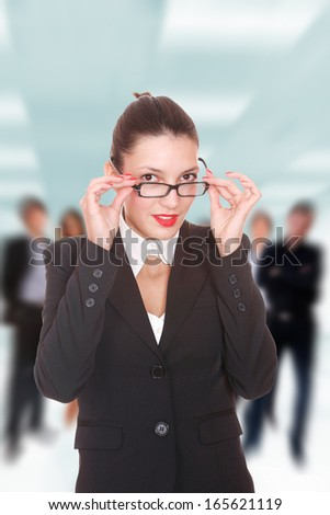 Business team in the office - stock photo