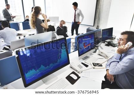 Business Team Investment Entrepreneur Trading Concept - stock photo