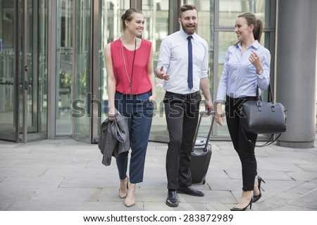 Business team is ready for next meeting - stock photo