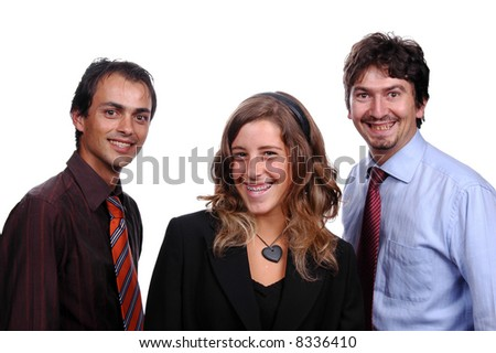 business team islated on white background - stock photo