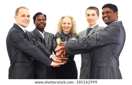 business team isolated over white background  - stock photo