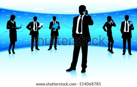 Business team leader (raster version) - stock photo