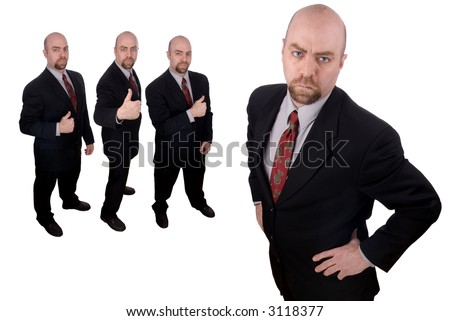 Business team led by a businessman - stock photo