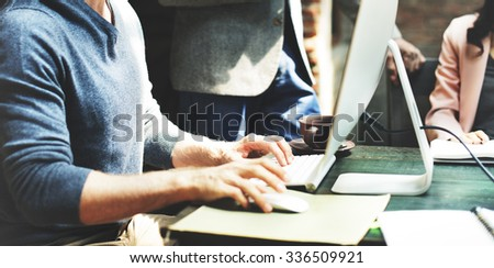 Business Team Meeting Brainstorming Working Concept - stock photo