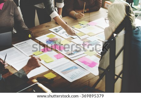 Business Team Meeting Project Planning Concept - stock photo