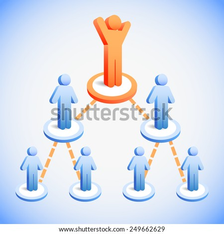 Business Team Network, concept for Human resources or social network